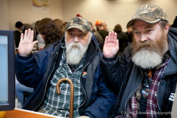 Larry and Randy have been together 11 years. They registered for marriage as soon as the new laws were passed in Washington State in December last year.