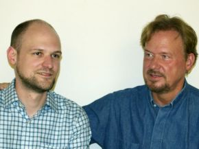 Pastor Frank Schaefer and his son Tim.